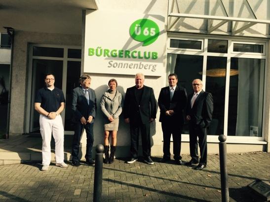 Der Bürgerclub Sonnenberg ist eröffnet. Im Foto (v.l.): Dr. Andre Kohl, Dr. Werner Jopp, Elke Rücker, Wolfgang Rücker, Andreas Xander, Wolfgang Pfeiffer Foto: Bürgerclub Sonnenberg