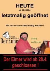 """Das Abschiedsplakat veröffentlichte """"Der Eimer"""" auf seiner Facebookseite"""