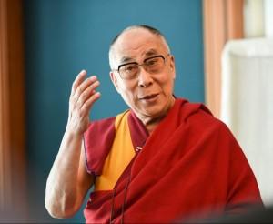 Der Dalai Lama bei seinem Besuch in Frankfurt vergangenes Jahr. Foto: Manuel Bauer