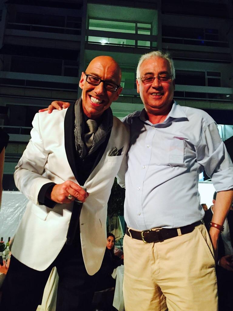 Sorgte für den Goumet-Genuss am Abend: Le Petit Tartin-Chef Abdelkrim M'Haimdat (r.), hier mit Moderator Mick Knauff Foto: Svetlana Schuster