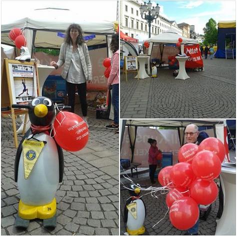 """Der Förderverein """"Eissport für Wiesbaden"""" präsentierte sich am Samstag beim """"Tag der Vereine"""" auf dem Schlossplatz. Foto: Eissport für Wiesbaden"""