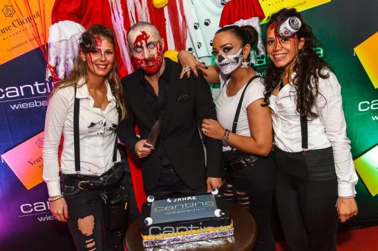 Halloween-Vorgeschmack: So feierte die Cantina im vergangenen Jahr. Foto: Cantina/Gommermann