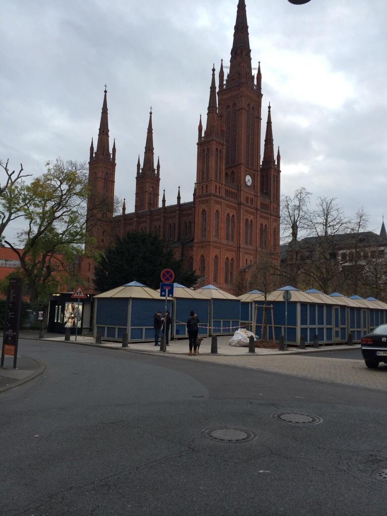 Geschafft: An der Marktkirche waren die Stände zuerst fertig
