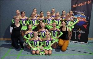 Die erfolgreichen Tanzmädchen des TSC Nordenstadt Foto: TSC Nordenstadt