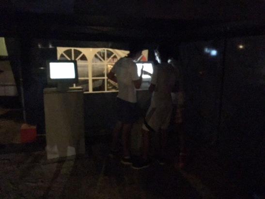 Gefragt: Die Monitore mit den Läufer-Zeiten am Zieleinlauf